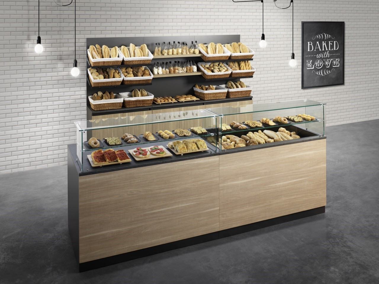 Bakerycafe arredamenti per panetteria panificio bar for Arredamento pasticceria prezzi