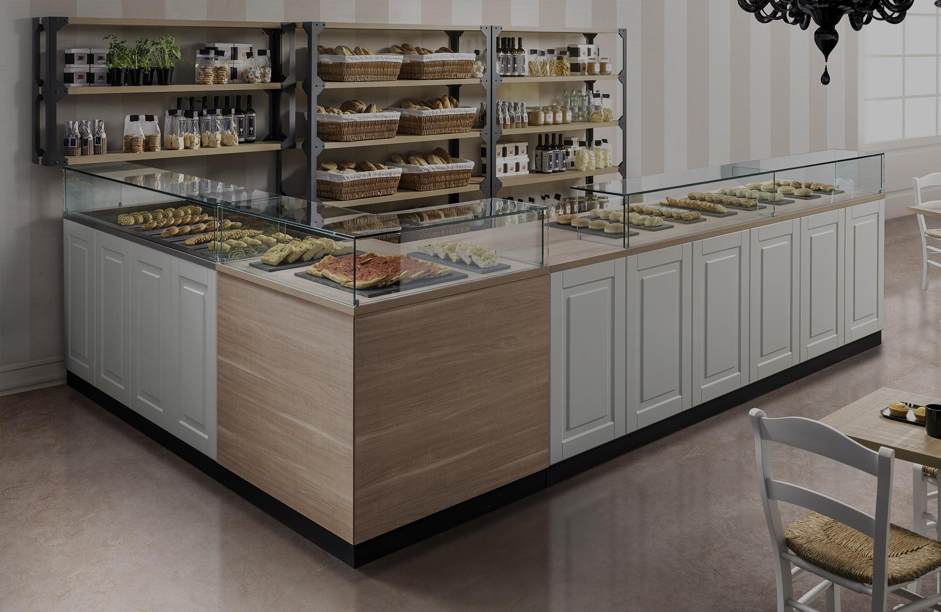 arredamenti per locali commerciali - bancone bar/pasticceria/pizzeria