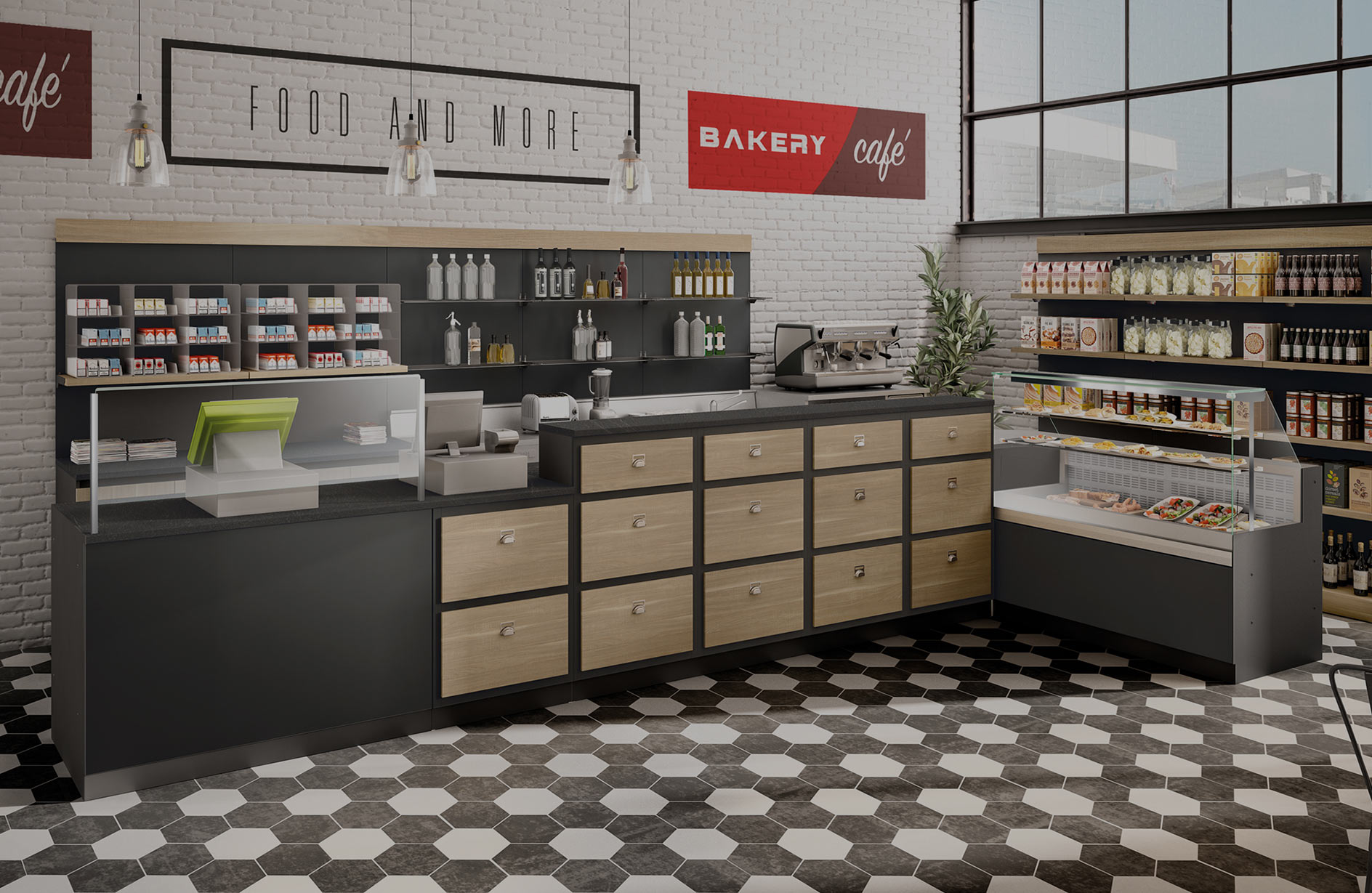 arredamenti attività commerciali - bancone bar/pasticceria/panetteria