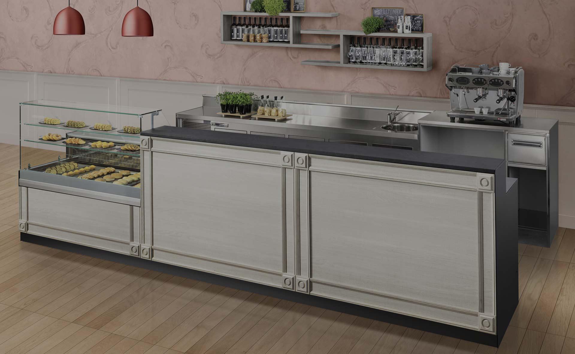 I banconi bakerycafe banconi per bar e locali commerciali for Arredamenti commerciali