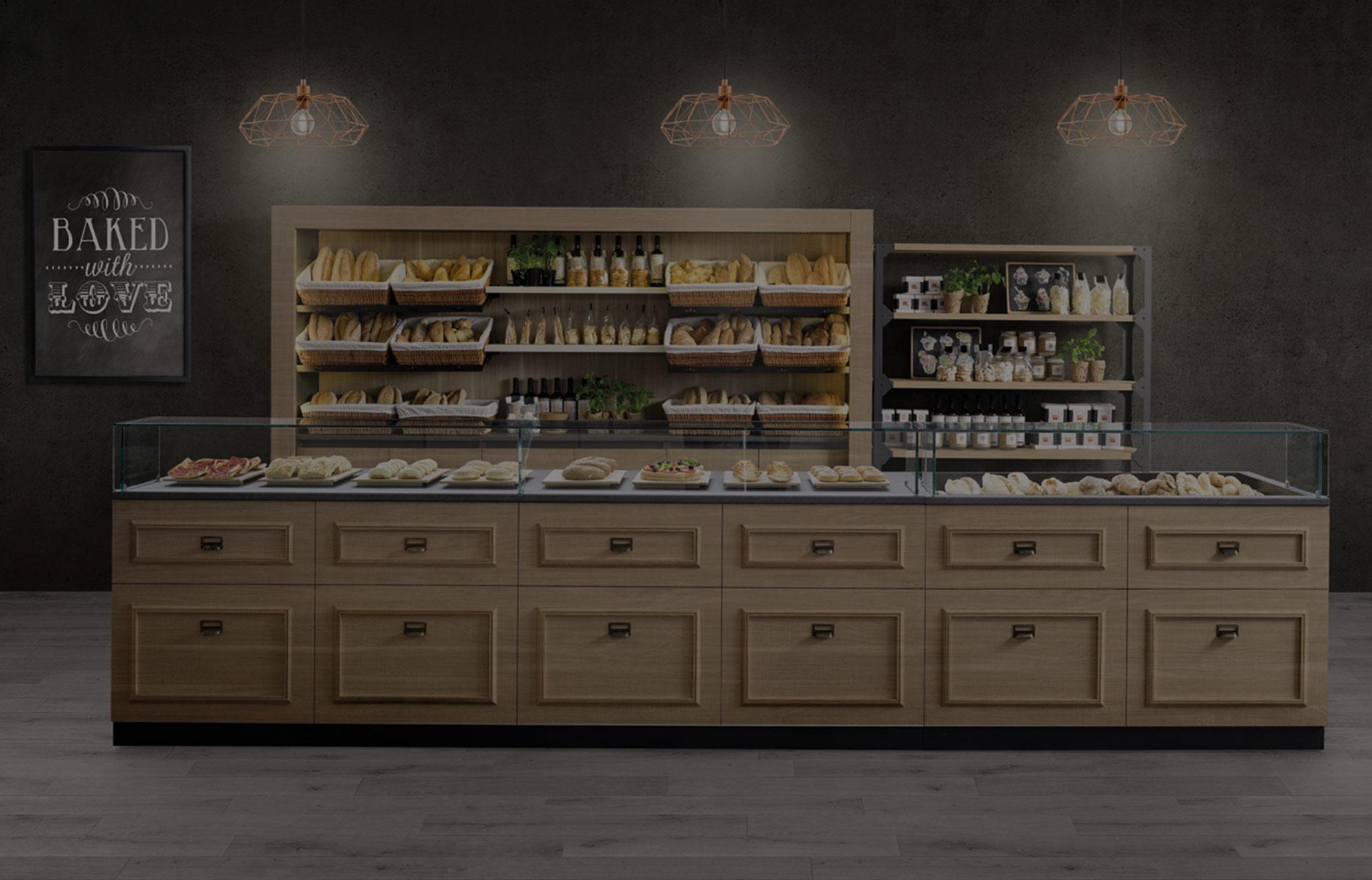 I banconi bakerycafe banconi per bar e locali commerciali for Banchi bar e arredamenti completi